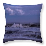 Cloud And Wave Seaside New Jersey Throw Pillow