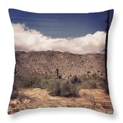 Cloud Blankets Over Joshua Tree Throw Pillow