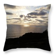 Cloud Break Sunset At  State Natural Reserve In San Diego Throw Pillow