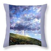 Cloud Burst Ireland Throw Pillow