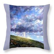 Cloud Burst Ireland Throw Pillow