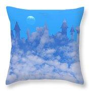 Cloud Castle Throw Pillow