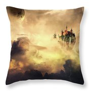 Cloud Castle Throw Pillow