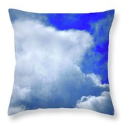 Cloud Commotion Throw Pillow