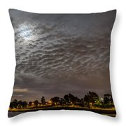 Cloud Covered Moon Throw Pillow
