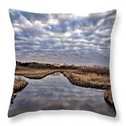 Cloud Covered River 2 Throw Pillow