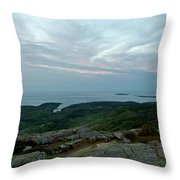 Cloud Covered Sunrise Throw Pillow
