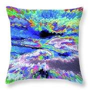 Cloud Energy Throw Pillow