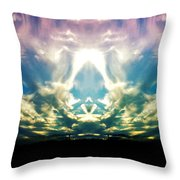 Cloud Face Color Throw Pillow