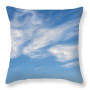 Cloud Faces Throw Pillow
