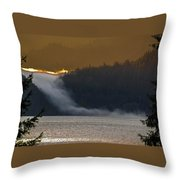 Cloud Fall On Crescent Lake Throw Pillow