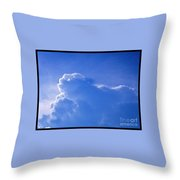 Cloud Figures Throw Pillow