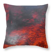 Cloud Fire With Rays Throw Pillow