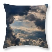 Cloud Formations Boiling Up Throw Pillow