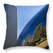 Cloud Gate And Aon Center Throw Pillow