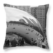 Cloud Gate Chicago Bw 2 Throw Pillow
