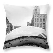 Cloud Gate Chicago Bw 3 Throw Pillow