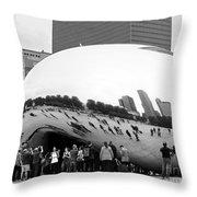 Cloud Gate Chicago Bw 4 Throw Pillow