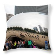 Cloud Gate Chicago Color 4 Throw Pillow