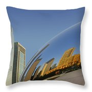 Cloud Gate - Reflection - Chicago Throw Pillow