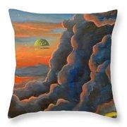 Cloud Gods Throw Pillow