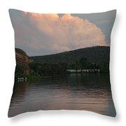 Cloud Lake Reflection Throw Pillow