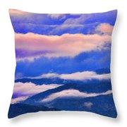 Cloud Layers At Sunset Throw Pillow