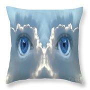 Cloud Mask Throw Pillow
