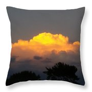 Cloud Of Sun Over Chaparral Lake Throw Pillow