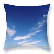 Cloud Sculpting Throw Pillow