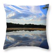 Cloud Show, Reflected Throw Pillow