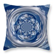 Cloud Spiral Throw Pillow