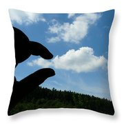 Cloud Squeeze Throw Pillow
