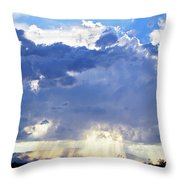 Cloud Storm On The Horizon Throw Pillow