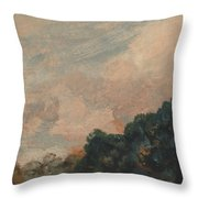 Cloud Study With Trees Throw Pillow