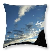 Cloud Sweep And Silhouette Throw Pillow