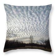 Cloud Symmetry Throw Pillow