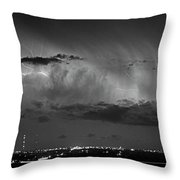 Cloud To Cloud Lightning Boulder County Colorado Bw Throw Pillow