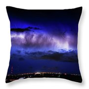 Cloud To Cloud Lightning Boulder County Colorado Throw Pillow