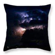 Cloud To Cloud Lightning Photography Throw Pillow