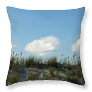 Cloud Trio And Dunes - Huntington Beach Sc Throw Pillow