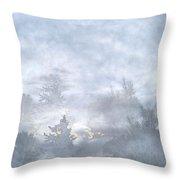 Cloud Walk Forest Throw Pillow