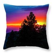 Cloudcroft Sunset Throw Pillow