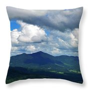 Clouded Landscape Throw Pillow