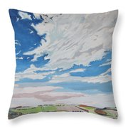 Clouded Sky On The Valley Throw Pillow