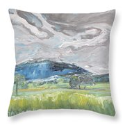 Clouded Sky Over Woburn Quebec Canada Throw Pillow