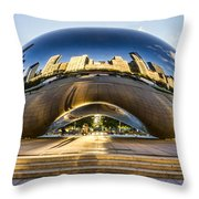 Cloudgate In Chicago Throw Pillow