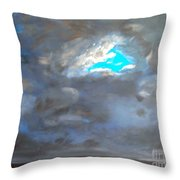 Cloudhole Throw Pillow