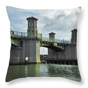 Clouds Above The Bridge Of Lions Throw Pillow