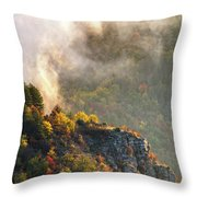 Clouds Above The Crest Of The Mountain Throw Pillow